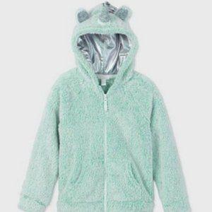 Cat & Jack Girl's Sherpa Unicorn Zip-Up Hoodie XL
